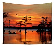 Sunset On The Bayou Tapestry