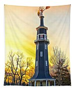 Sunset On The Dwight Windmill Tapestry