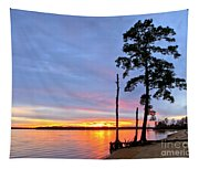 Sunset On The James River Tapestry