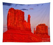 Sunset On The Mittens Tapestry