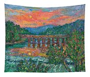 Sunset On The New River Tapestry
