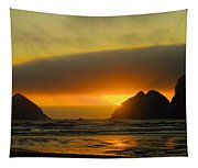Sunset On The Oregon Coast Tapestry