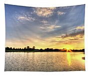 Sunset On The Pond Tapestry