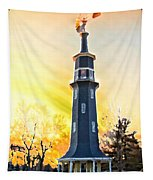Sunset On The Windmill Tapestry
