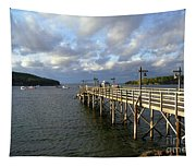 Sunset Over Bar Harbor Tapestry