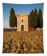 Sunset Over Cappella Di Vitaleta Tapestry