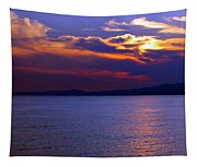 Sunset Over Korcula Tapestry