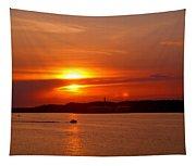 Sunset Over Lake Ozark Tapestry