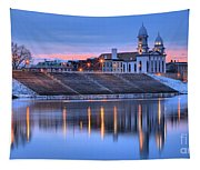 Sunset Over The Clinton County Courthouse Tapestry