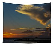 Sunset Over The Laguna Madre Tapestry