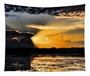 Sunset Over The Mead Wildlife Area Tapestry