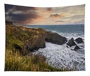 Sunset Over The Oregon Coast Tapestry