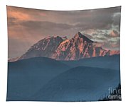 Sunset Over The Tantalus Mountains In Squamish Tapestry