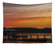 Sunset Over The Wando River Tapestry