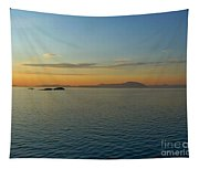 Sunset Over Vancouver Island Tapestry