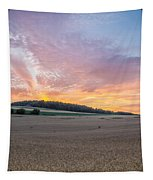 Sunset Over Wheat Tapestry