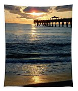 Sunset Pier Tapestry
