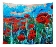 Sunset Poppies Tapestry