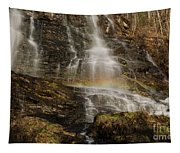Sunset Rainbow At Amicalola Falls Tapestry