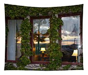 Sunset Reflection On Empress Window Tapestry
