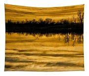 Sunset Riverlands West Alton Mo Sepia Tone Dsc03319 Tapestry
