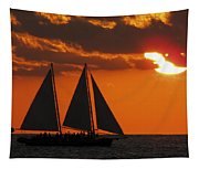 Key West Sunset Sail 3 Tapestry