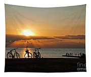 Sunset Silhouettes Tapestry