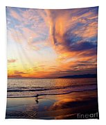 Sunset Surfing Tapestry