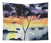 Sunset Tree Koh Chang Thailand Tapestry