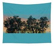 Sunset Trees Tapestry