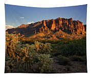 Sunset View Of The Superstitions  Tapestry