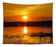 Sunset Walk In The Water Tapestry