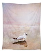 Sunset With Young Seagull Tapestry