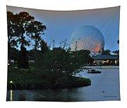 Sunset World Showcase Lagoon Tapestry