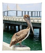 Sunshine Skyway And Pelican Tapestry