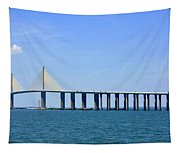 Sunshine Skyway Bridge II Tampa Bay Florida Usa Tapestry