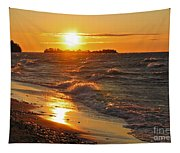 Superior Sunset Tapestry
