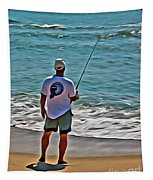 Surf Fishing Tapestry