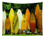 Surfboard Fence Hawaii 1 Tapestry