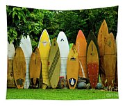 Surfboard Fence Maui Tapestry