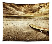 Surfboard On The Beach 2 Tapestry