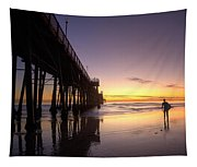 Surfer At Sunset Tapestry