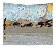 Surfer Beach 1034b Tapestry