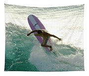 Surfer Cutting Back Tapestry