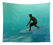 Surfer In The Zone Tapestry