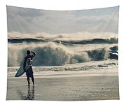 Surfer Watch Tapestry