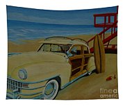 Surfers Woody Tapestry
