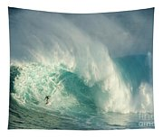 Surfing Jaws 3 Tapestry
