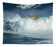 Surfing Jaws 6 Tapestry