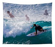 Surfing Maui Tapestry